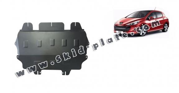 Steel skid plate for Peugeot 308