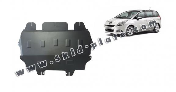 Steel skid plate for the protection of the engine and the gearbox for Peugeot 5008