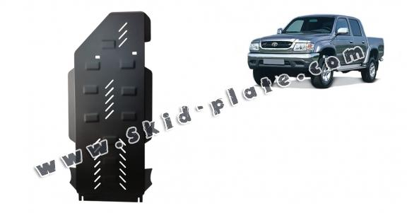 Steel gearbox and differential skid plate for Toyota Hilux