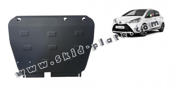 Steel skid plate for Toyota Yaris Hybrid