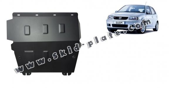 Steel skid plate for the protection of the engine and the gearbox for VW Polo 6n2