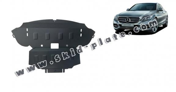 Steel skid plate for Mercedes C-Class W205