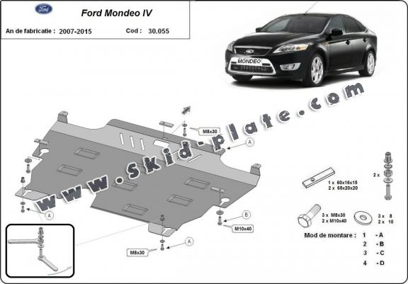 Steel skid plate for Ford Mondeo 4