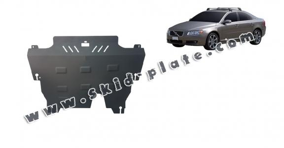 Steel skid plate for the protection of the engine and the gearbox for Volvo S80