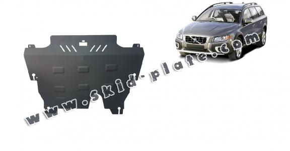 Steel skid plate for the protection of the engine and the gearbox for Volvo XC70