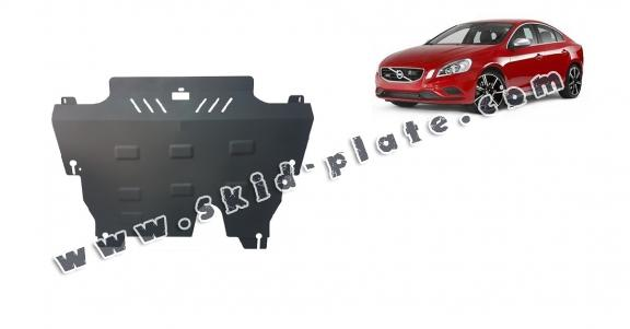 Steel skid plate for the protection of the engine and the gearbox for Volvo S60
