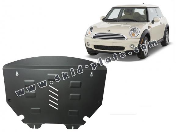 Steel skid plate for the protection of the engine and the gearbox for Mini Cooper R56