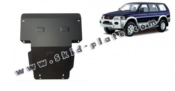 Steel skid plate for the protection of the engine and the radiator for Mitsubishi Pajero Sport 1