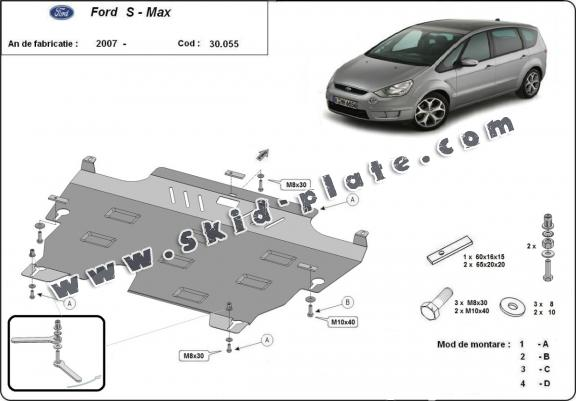 Steel skid plate for Ford S - Max