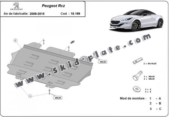 Steel skid plate for Peugeot Rcz