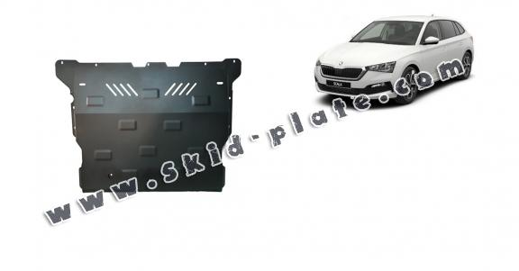 Steel skid plate for Skoda Scala