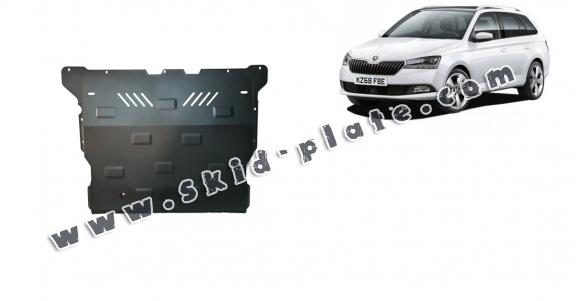 Steel skid plate for Skoda Fabia