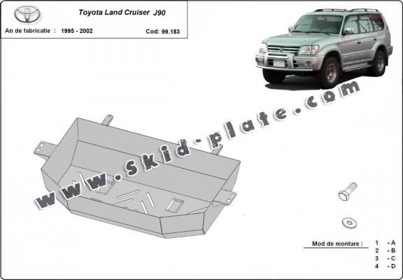 Steel fuel tank skid plate  for Toyota Land Cruiser J90