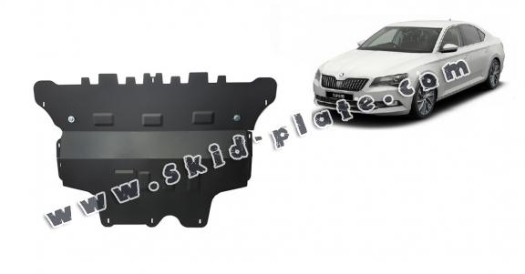 Steel skid plate for Skoda Superb - automatic gearbox