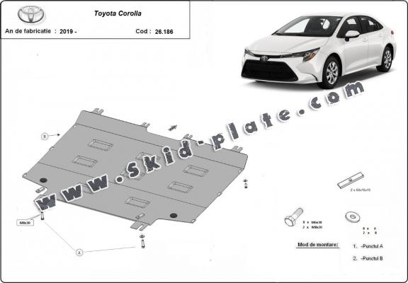 Steel skid plate for Toyota Corolla