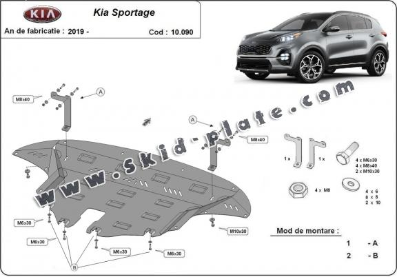Steel skid plate for Kia Sportage