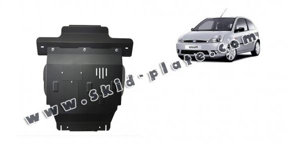 Steel skid plate for Ford Fiesta