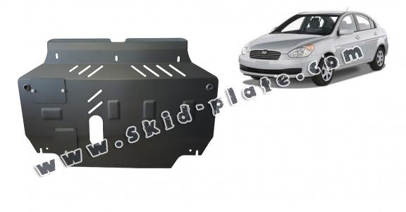 Steel skid plate for Hyundai Accent