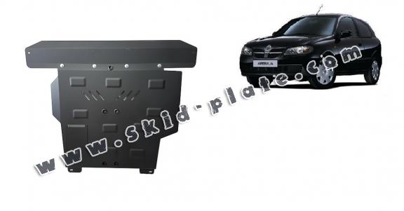 Steel skid plate for Nissan Almera Tino