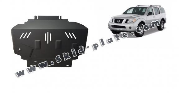 Steel skid plate for Nissan Pathfinder