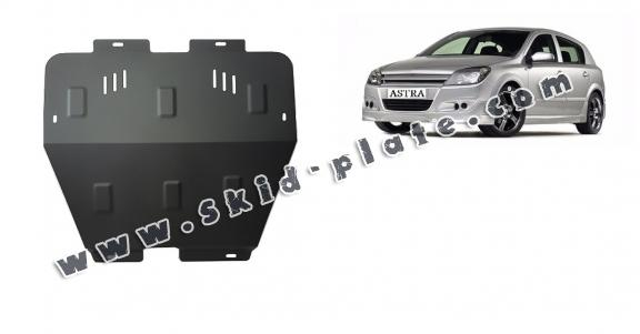 Steel skid plate for Opel Astra H