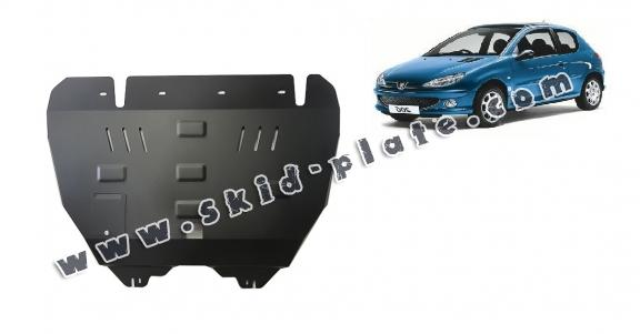 Steel skid plate for Peugeot 206