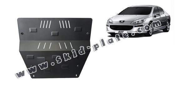 Steel skid plate for Peugeot 407
