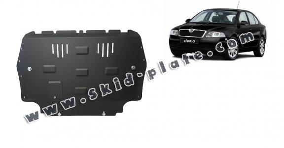 Steel skid plate for Skoda Octavia 2
