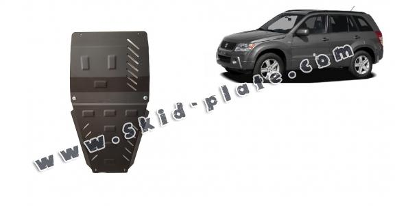 Steel gearbox and differential skid plate for Suzuki Grand Vitara 2