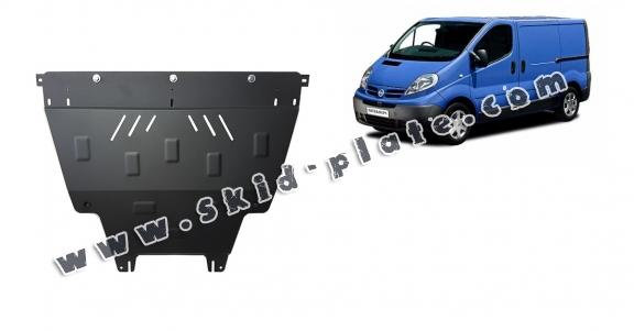 Steel skid plate for Nissan Primastar