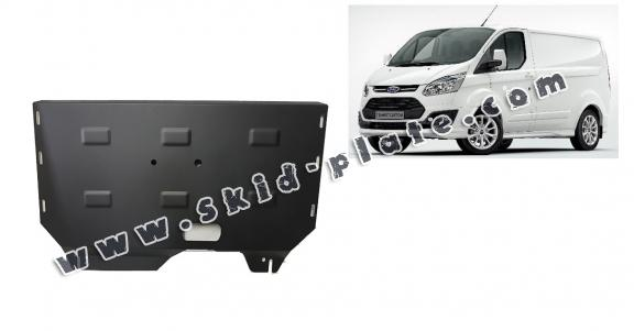 Steel skid plate for the protection of the engine and the gearbox for Ford Transit Custom
