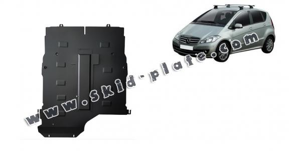 Steel skid plate for the protection of the engine, gearbox and differential for Mercedes A-Class
