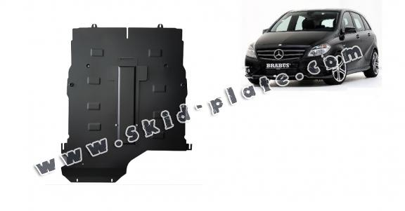 Steel skid plate for the protection of the engine and gearbox for Mercedes B-Class