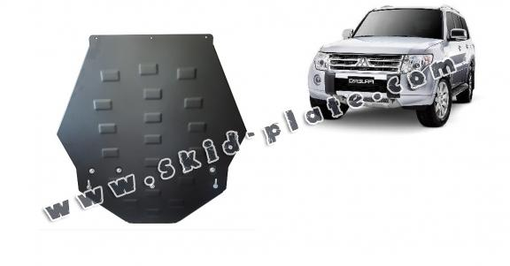 Steel gearbox skid plate for Mitsubishi Pajero 4 (V80, V90)