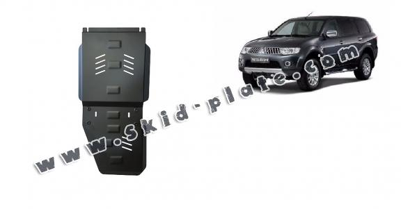 Steel gearbox and differential skid plate for  Mitsubishi Pajero Sport 2