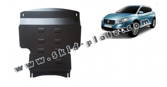 Steel skid plate for the protection of the engine and the gearbox for Suzuki S-Cross