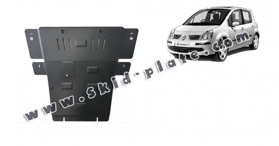 Steel skid plate for Renault Modus