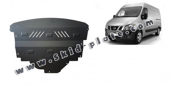 Steel skid plate for Nissan NV400