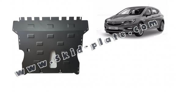 Steel skid plate for Opel Astra K