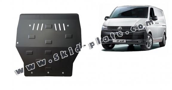 Steel skid plate for Volkswagen Transporter T6