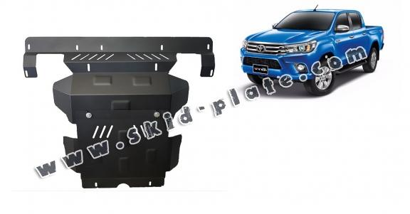 Steel skid plate for the protection of the engine and the radiator for Toyota Hilux Revo
