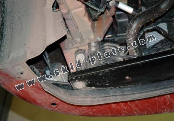 Steel skid plate for the protection of the engine and the gearbox for Fiat Doblo