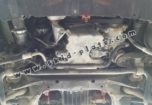 Steel skid plate for Audi A4  B6